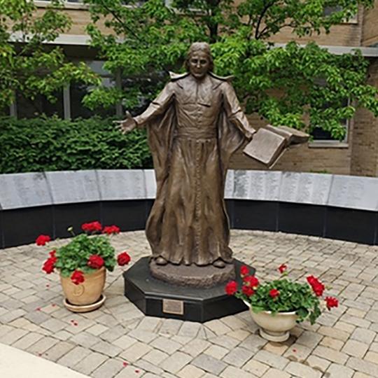 statue of St. John Baptist de La Salle